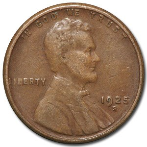 1925-S Lincoln Cent XF