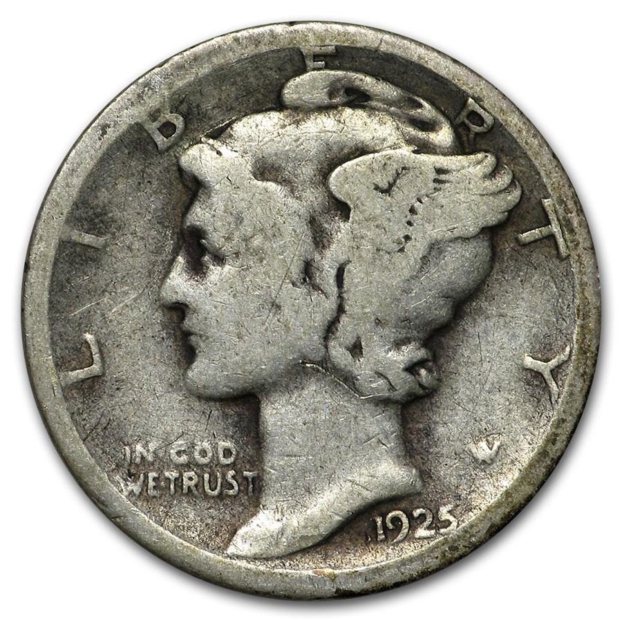 1925-S Mercury Dime Good/VG