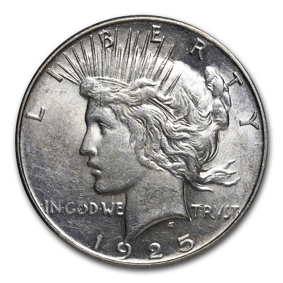 1925-S Peace Dollar AU-58