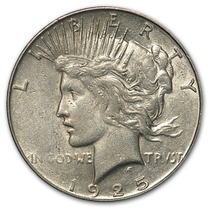 1925-S Peace Dollar AU Details (Cleaned)