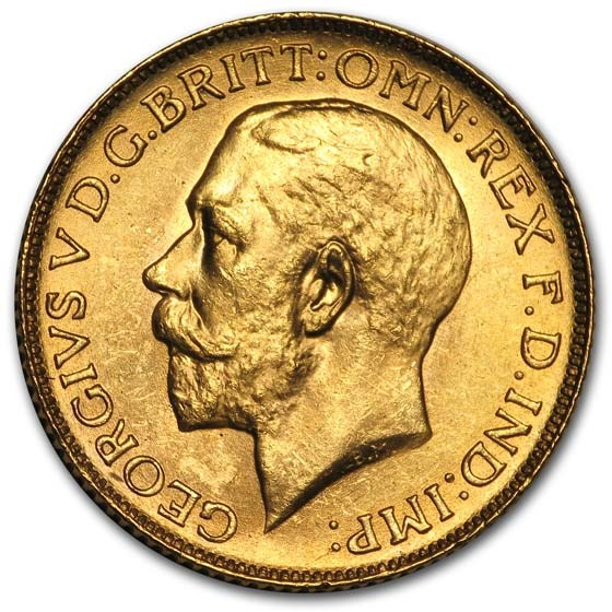 1925-SA South Africa Gold Sovereign George V BU
