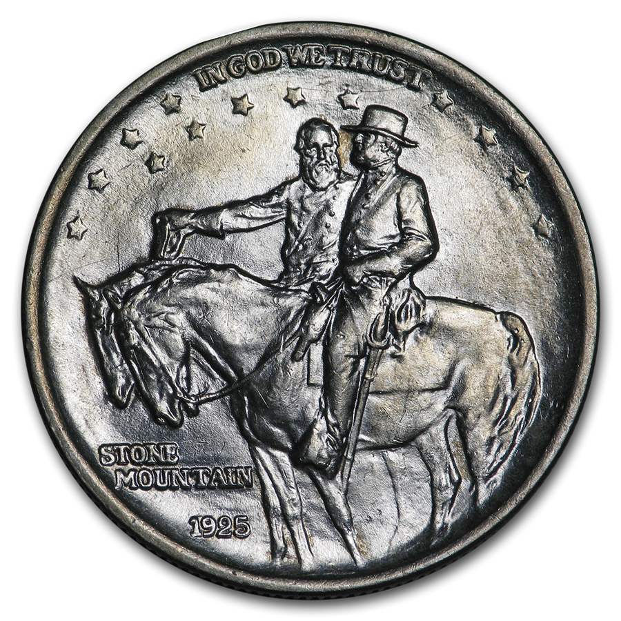 1925 Stone Mountain Commemorative Half AU (Double Die Obv ...Stone Mountain