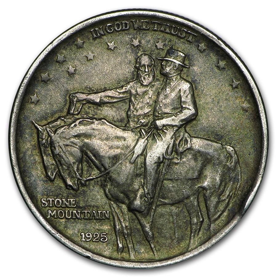 1925 Stone Mountain Commemorative Half Dollar Avg Circ