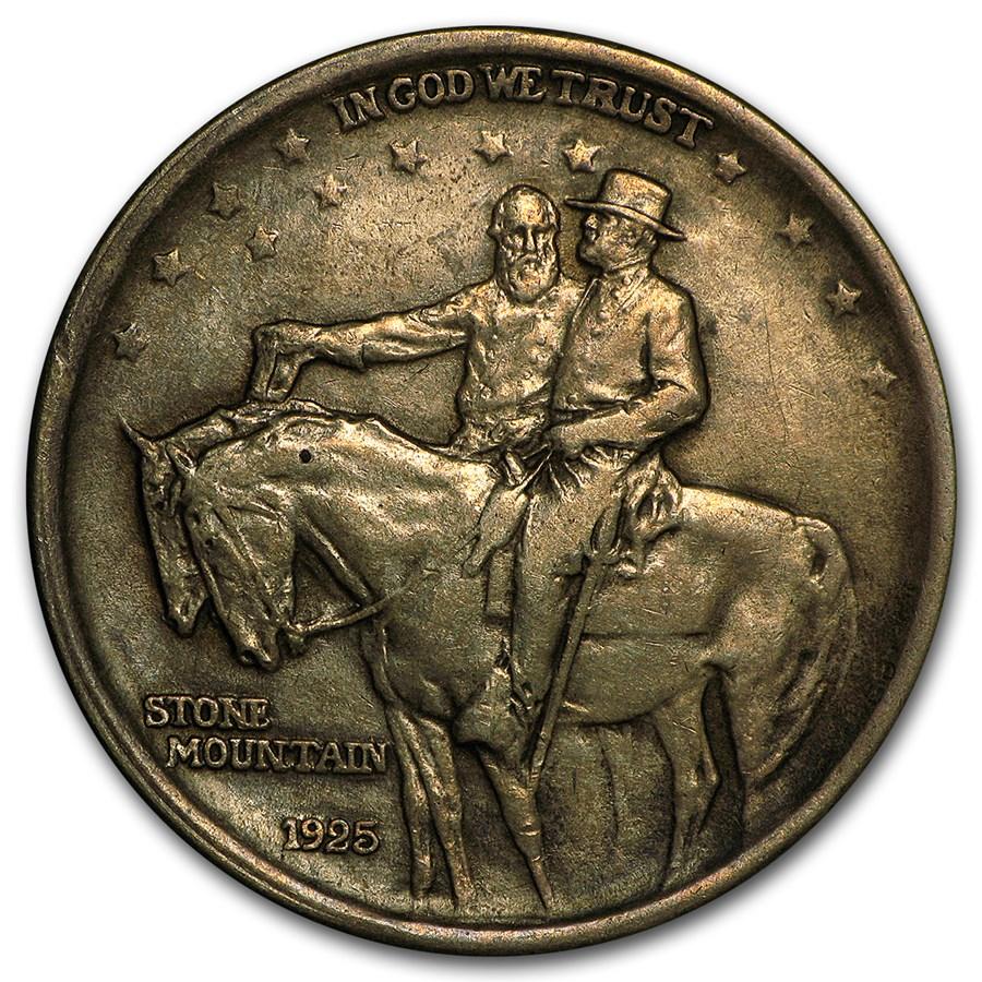 1925 Stone Mountain Commemorative Half Dollar XF