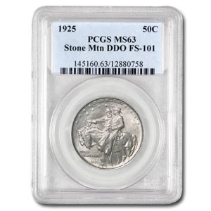 1925 Stone Mountain Doubled Die Obverse MS-63 PCGS