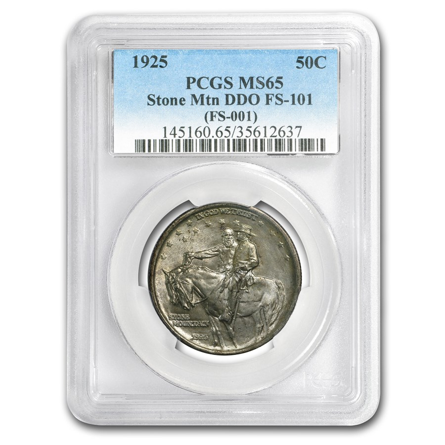 1925 Stone Mountain Doubled Die Obverse MS-65 PCGS