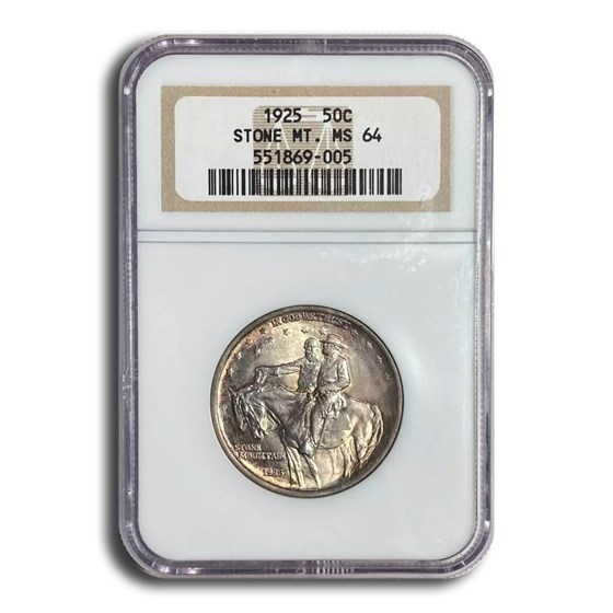 1925 Stone Mountain Half Dollar MS-64 NGC