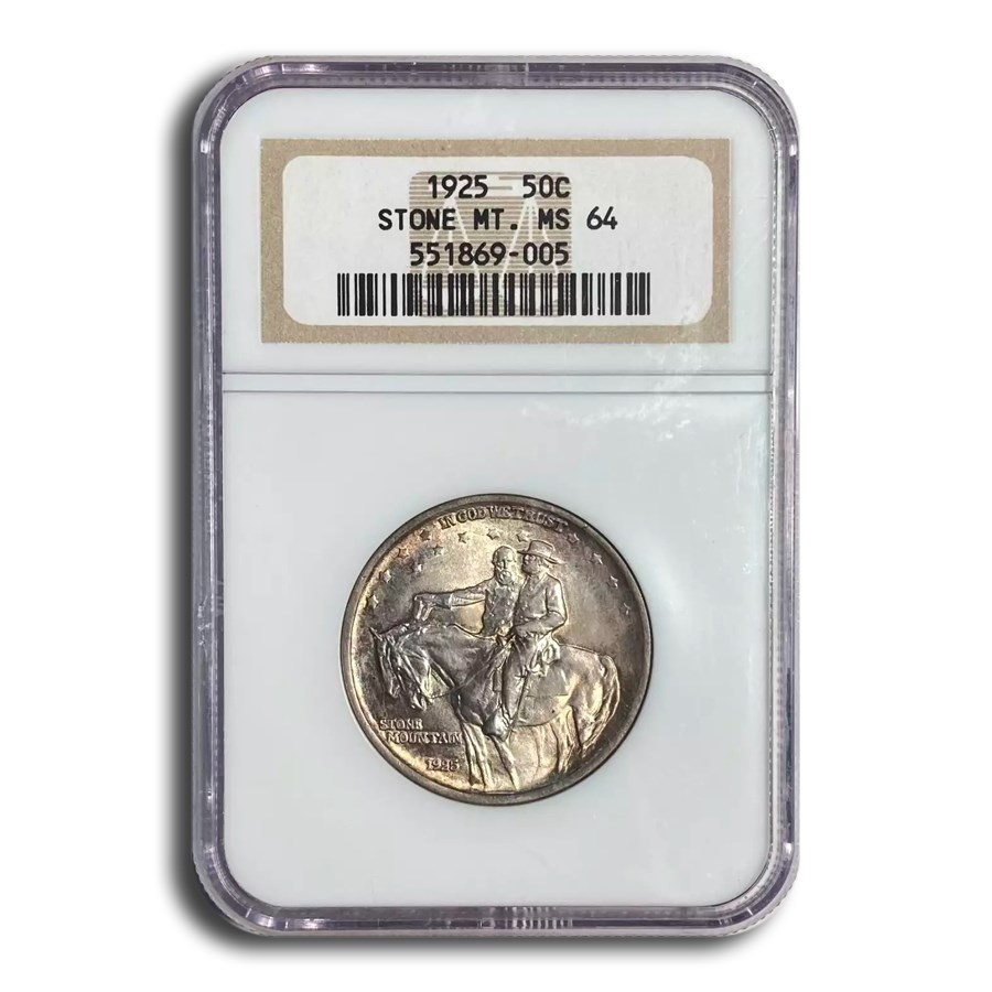 1925 Stone Mountain Half Dollar MS-64 NGC