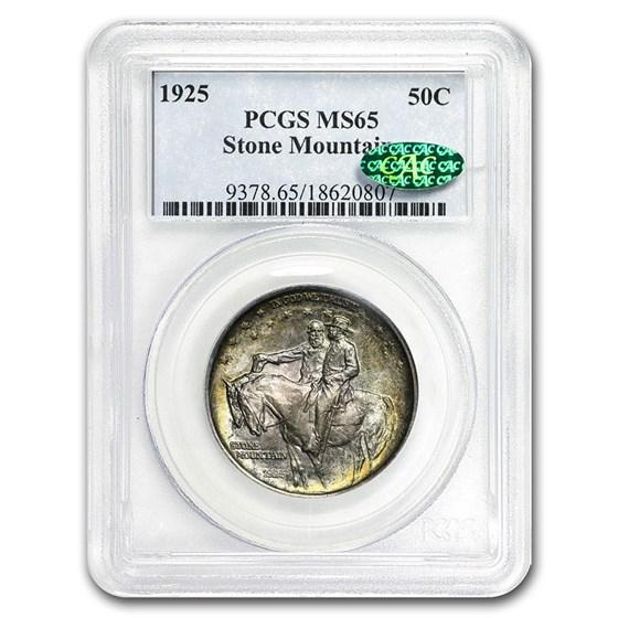 1925 Stone Mountain Memorial Half Dollar MS-65 PCGS (CAC, Toned)