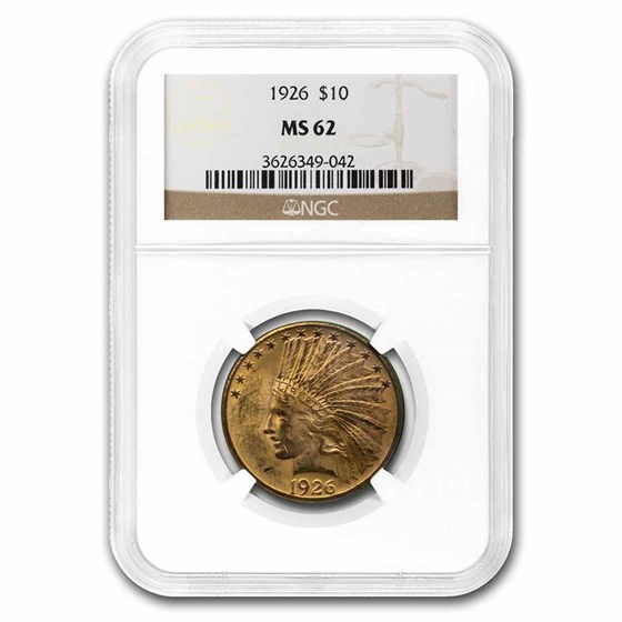 1926 $10 Indian Gold Eagle MS-62 NGC
