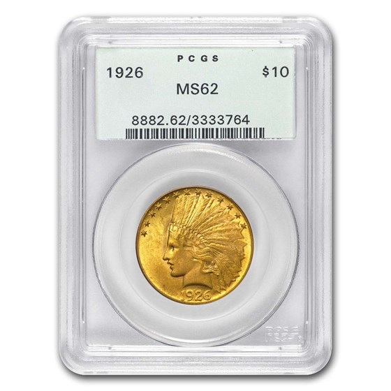1926 $10 Indian Gold Eagle MS-62 PCGS