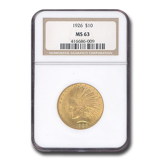 1926 $10 Indian Gold Eagle MS-63 NGC