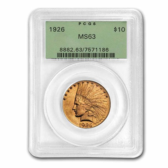 1926 $10 Indian Gold Eagle MS-63 PCGS (OGH)