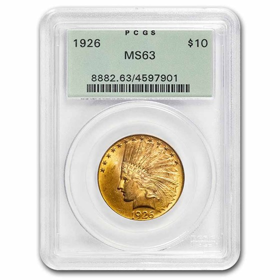 1926 $10 Indian Gold Eagle MS-63 PCGS
