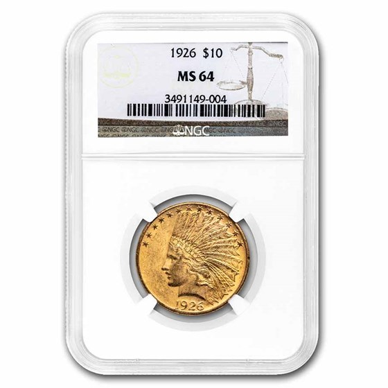 1926 $10 Indian Gold Eagle MS-64 NGC