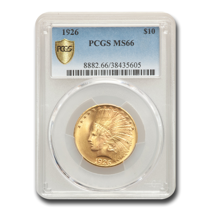 1926 $10 Indian Gold Eagle MS-66 PCGS