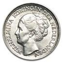 1926-1945 Netherlands Silver 10 Cents Wilhelmina Avg Circ