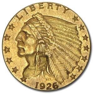 1926 $2.50 Indian Gold Quarter Eagle AU