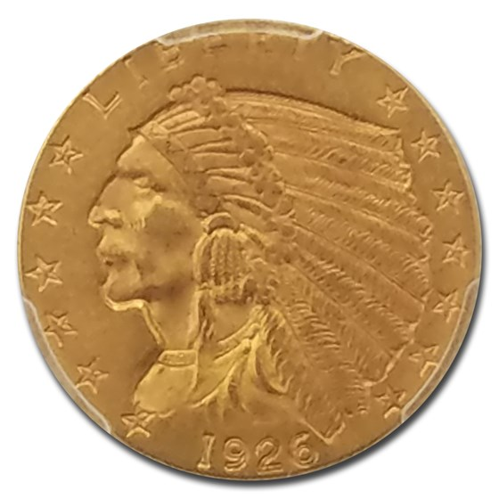 1926 $2.50 Indian Gold Quarter Eagle MS-62 PCGS