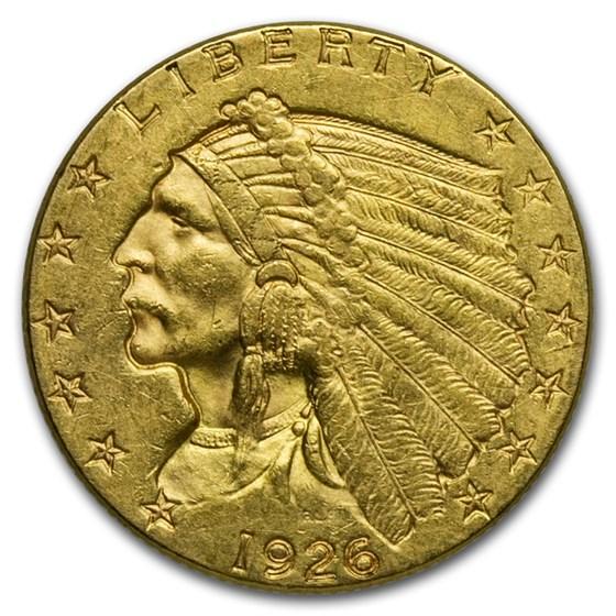 1926 $2.50 Indian Gold Quarter Eagle XF