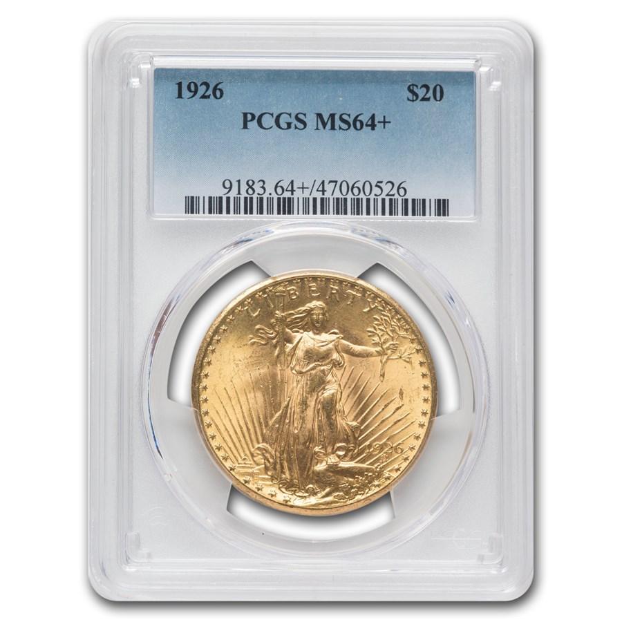 1926 $20 Saint-Gaudens Gold Double Eagle MS-64+ PCGS
