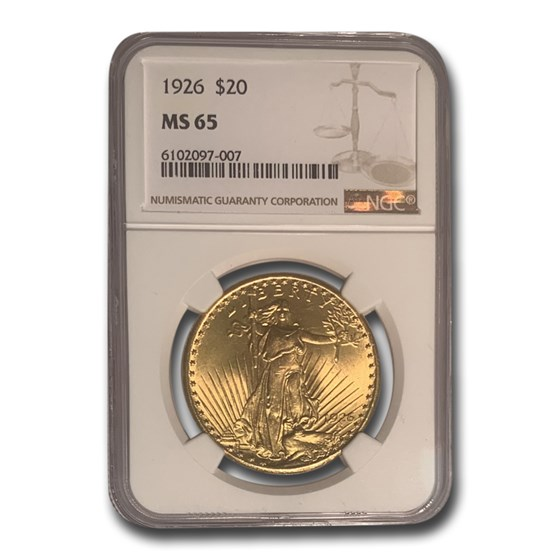 1926 $20 Saint-Gaudens Gold Double Eagle MS-65 NGC