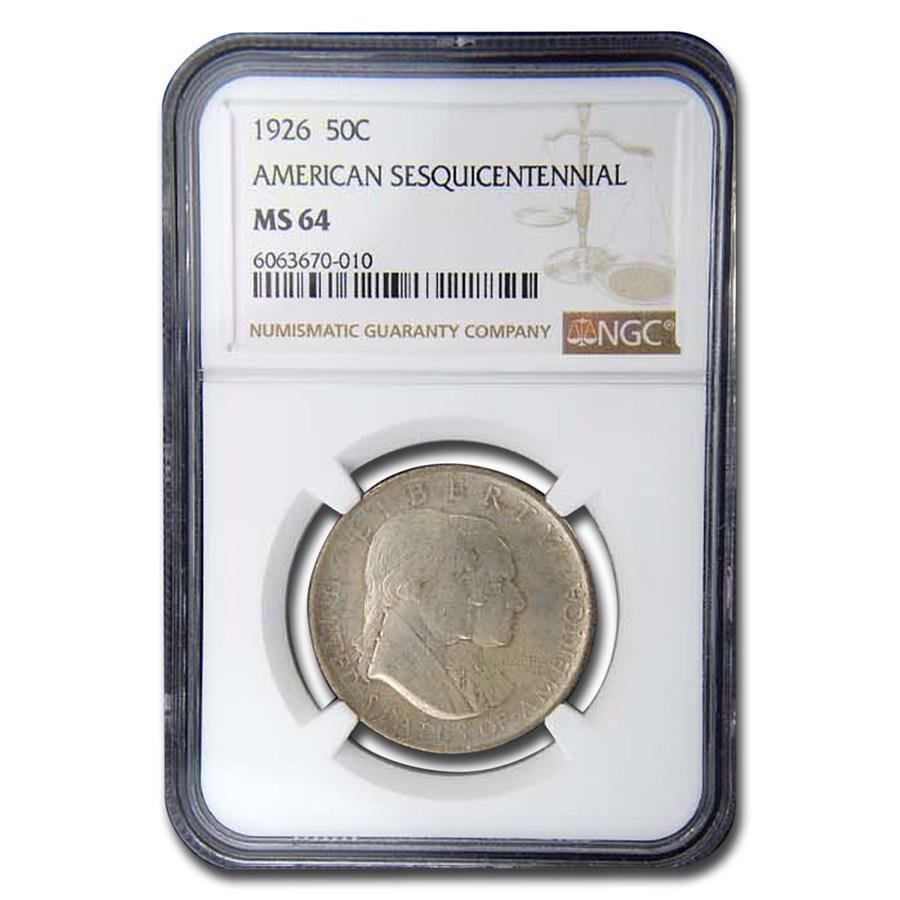 1926 America Sesquicentennial Half Dollar MS-64 NGC