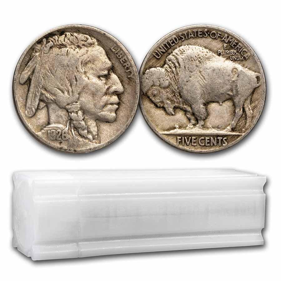 1926 Buffalo Nickel 40-Coin Roll Avg Circ