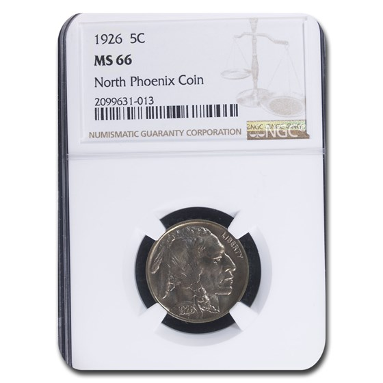 1926 Buffalo Nickel MS-66 NGC