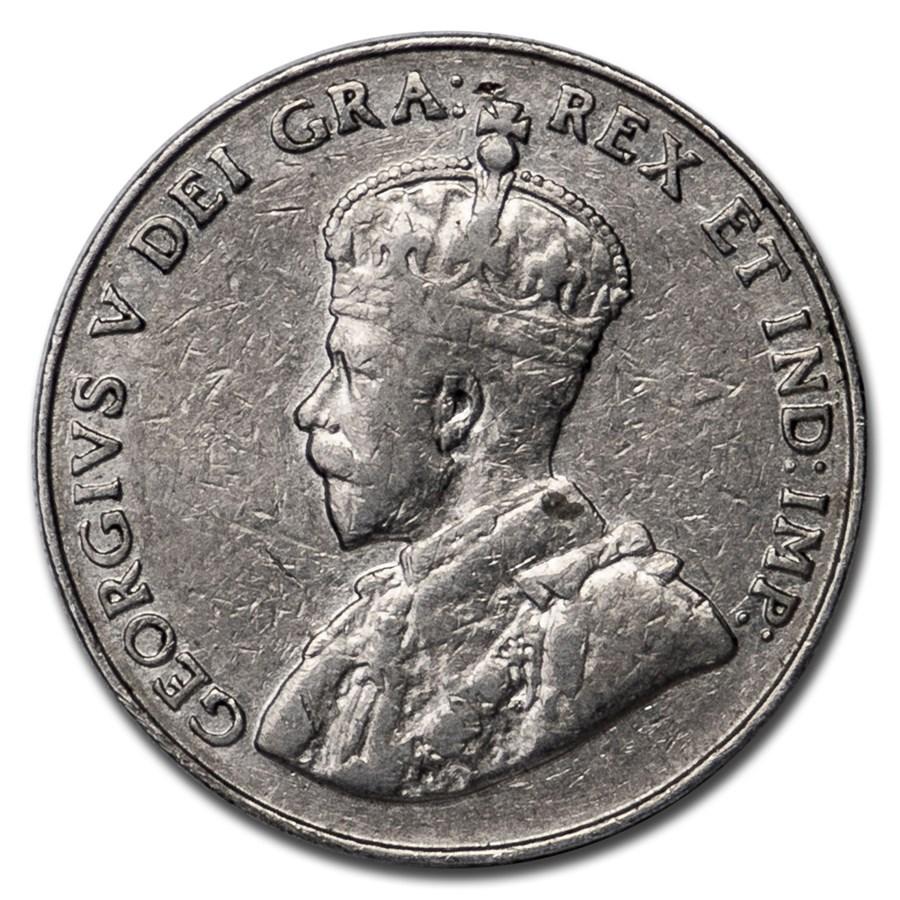 1926 Canada 5 Cents Very Fine (Near 6)