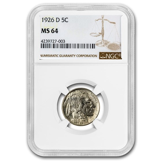 1926-D Buffalo Nickel MS-64 NGC
