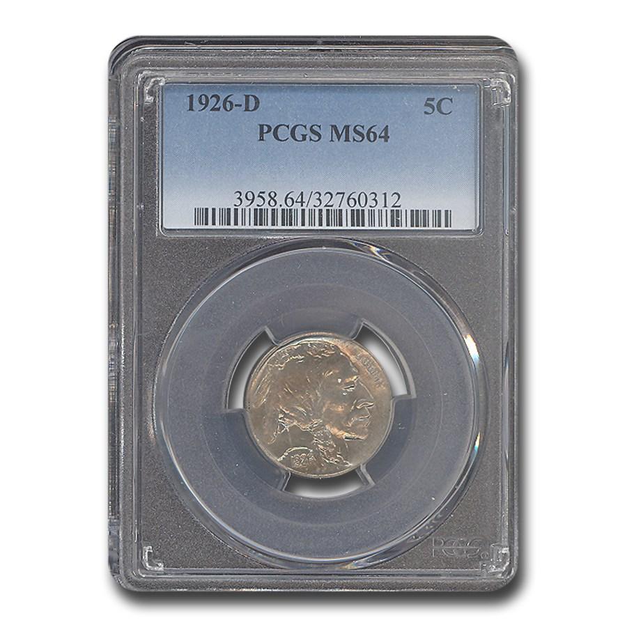 1926-D Buffalo Nickel MS-64 PCGS