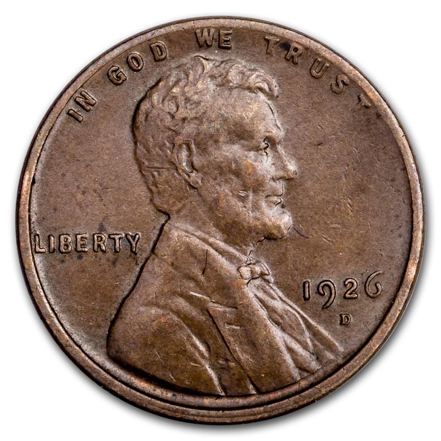 1926-D Lincoln Cent AU
