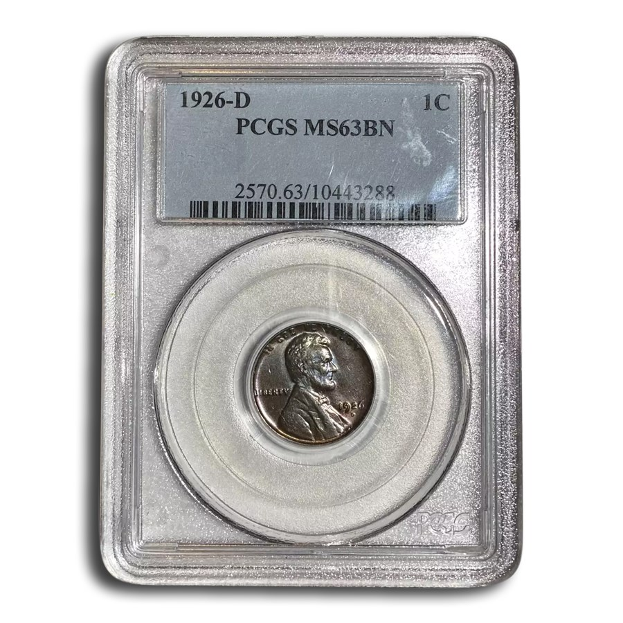 1926-D Lincoln Cent MS-63 PCGS (Brown)