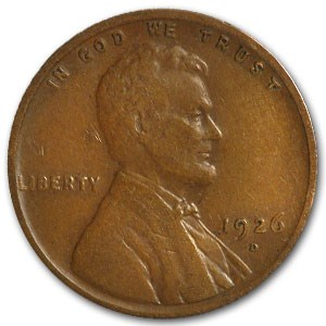 1926-D Lincoln Cent VF