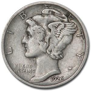 1926-D Mercury Dime VF