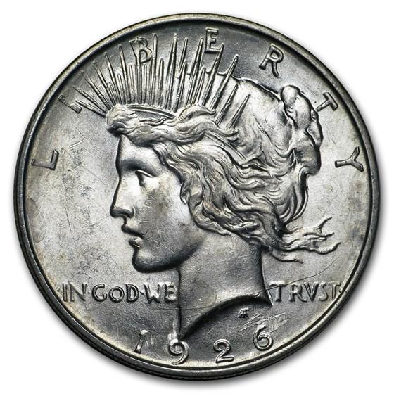 1926-D Peace Dollar AU-58