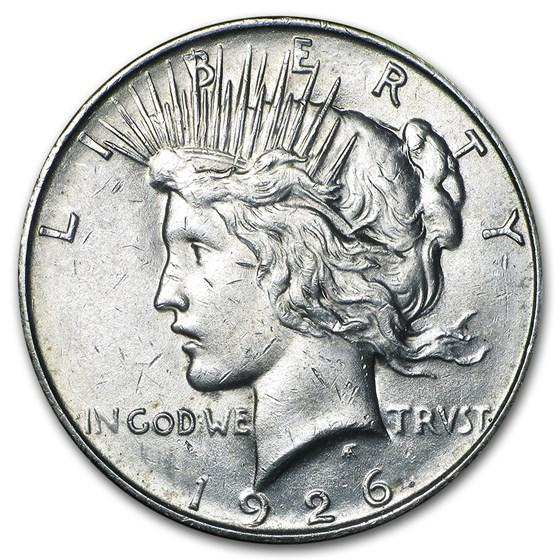 1926-D Peace Dollar AU