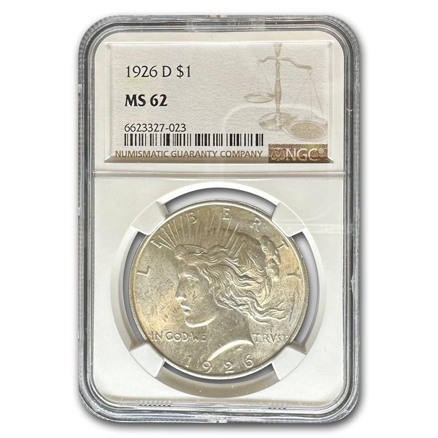 1926-D Peace Dollar MS-62 NGC