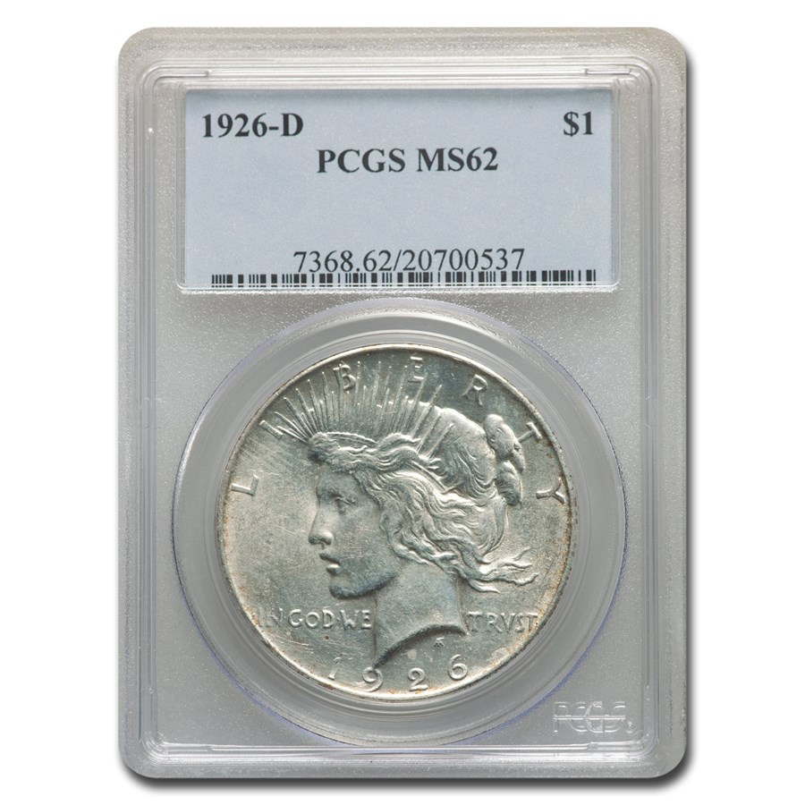 1926-D Peace Dollar MS-62 PCGS