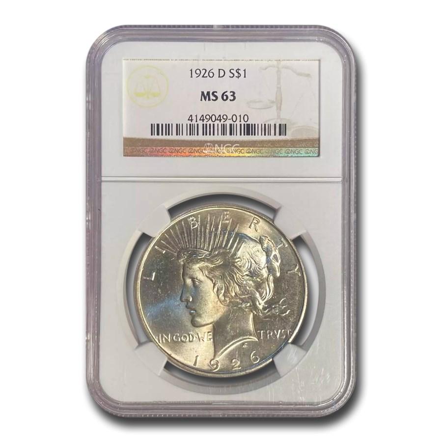 1926-D Peace Dollar MS-63 NGC