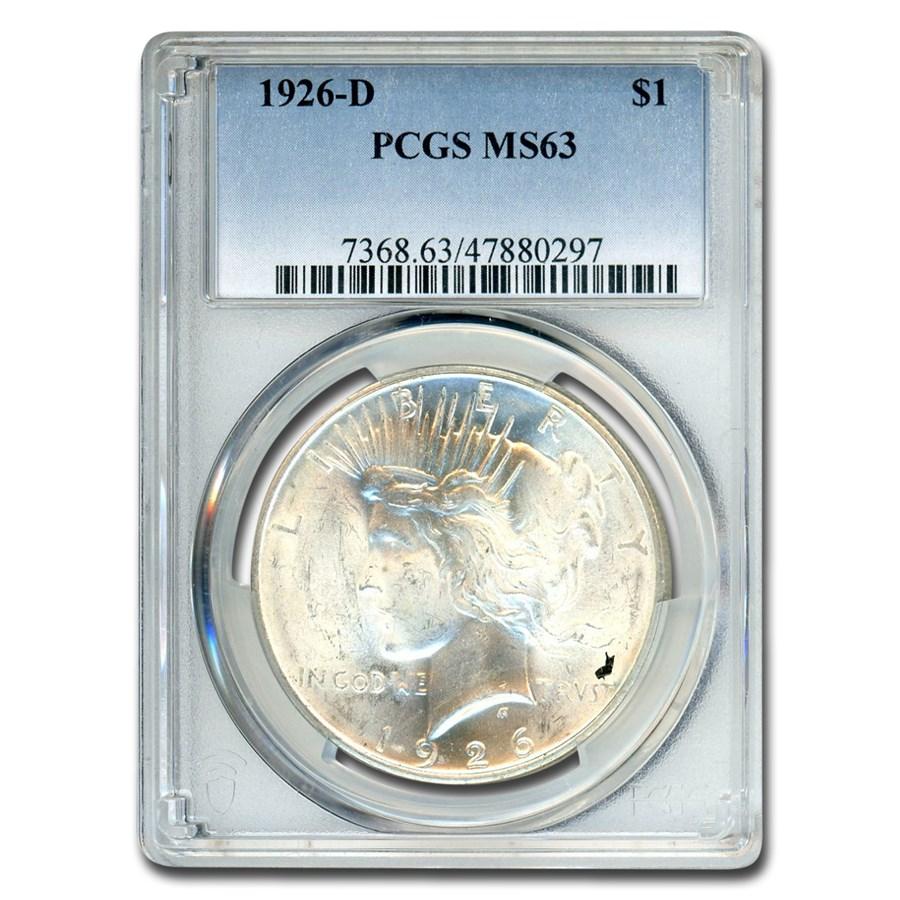 1926-D Peace Dollar MS-63 PCGS