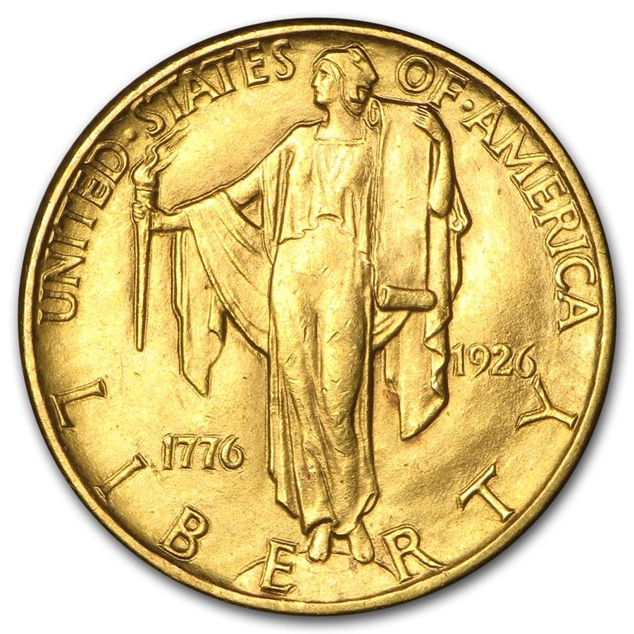 1926 Gold $2.50 America Sesquicentennial BU
