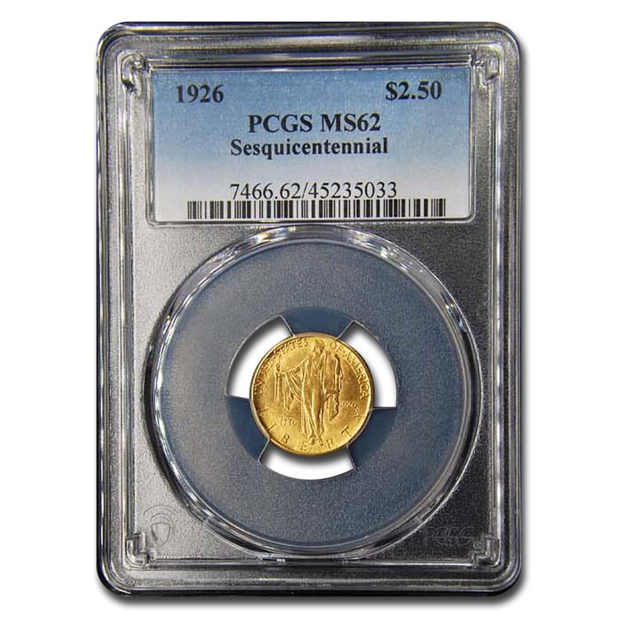 1926 Gold $2.50 America Sesquicentennial MS-62 PCGS