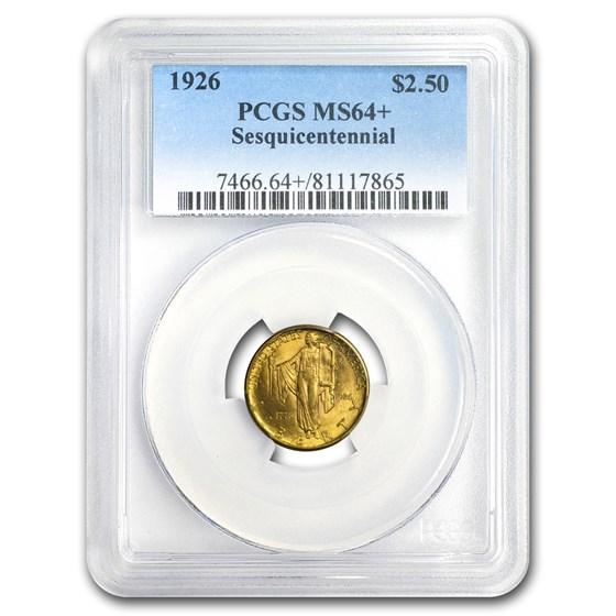 1926 Gold $2.50 America Sesquicentennial MS-64+ PCGS