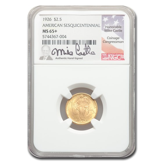 1926 Gold $2.50 America Sesquicentennial MS-65+ NGC (M. Castle)