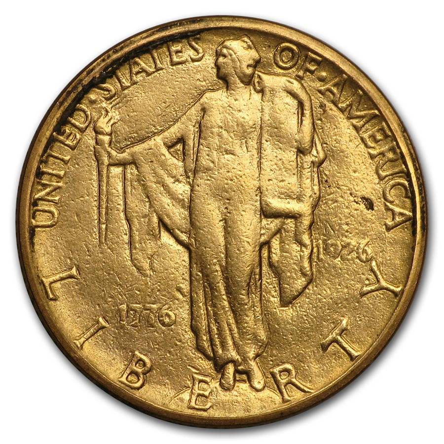 1926 Gold $2.50 America Sesquicentennial VF