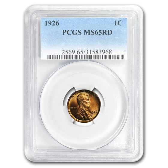 1926 Lincoln Cent MS-65 PCGS (Red)