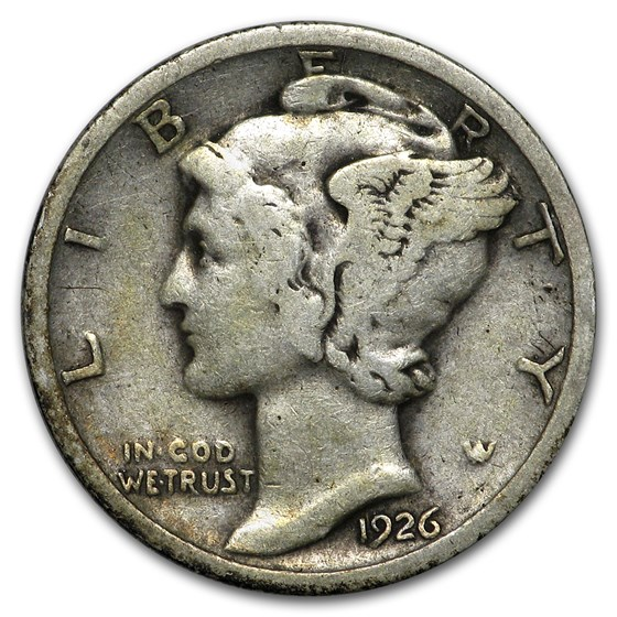 1926 Mercury Dime Good/VF