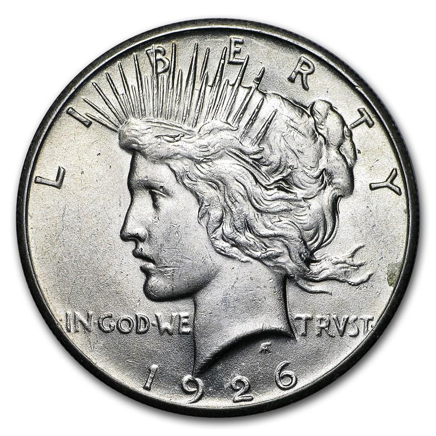 1926 Peace Dollar AU